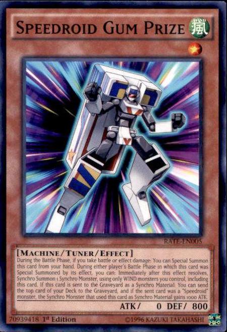 YuGiOh Raging Tempest Common Speedroid Gum Prize RATE-EN005