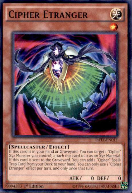 YuGiOh Raging Tempest Common Cipher Etranger RATE-EN011