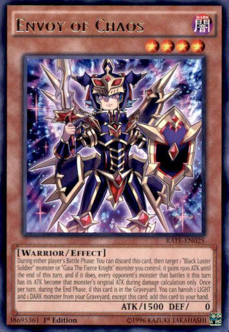 YuGiOh Raging Tempest Rare Envoy of Chaos RATE-EN025