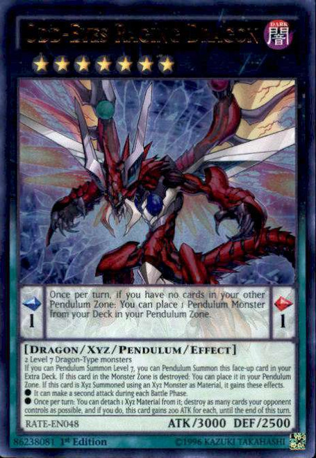 YuGiOh Raging Tempest Ultra Rare Odd-Eyes Raging Dragon RATE-EN048