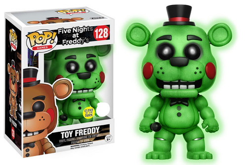 Funko Five Nights at Freddy's POP! Games Toy Freddy Exclusive Vinyl Figure #128 [Glow In The Dark]