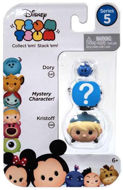 Disney Tsum Tsum Series 5 Dory & Kristoff 1-Inch Minifigure 3-Pack #543 & 348