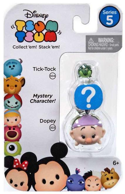 Disney Tsum Tsum Series 5 Tick-Tock & Dopey 1-Inch Minifigure 3-Pack #504 & 303