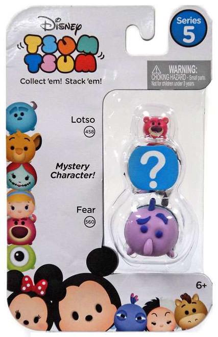 Disney Tsum Tsum Series 5 Lotso & Fear 1-Inch Minifigure 3-Pack #458 & 560