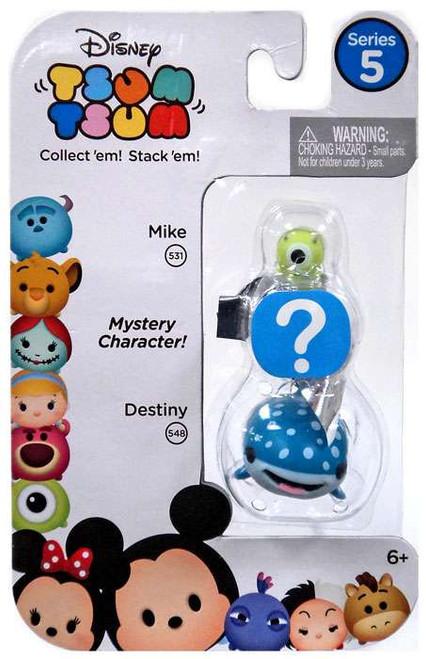 Disney Tsum Tsum Series 5 Mike & Destiny 1-Inch Minifigure 3-Pack #531 & 548