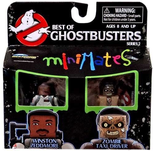 Ghostbusters Best of Minimates Series 2 Winston Zeddmore & Zombie Taxi Driver Exclusive Minifigure 2-Pack
