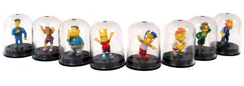 The Simpsons Set of 8 Mini Capsule Figures