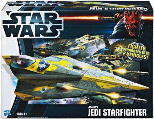Star Wars The Clone Wars Vehicles 2012 Anakin's Jedi Starfighter Action Figure Vehicle [Damaged Package]