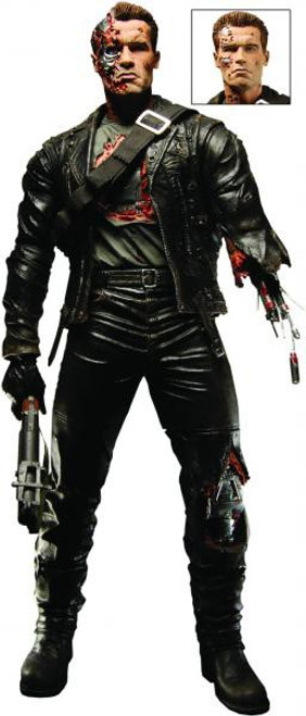 NECA Terminator 2 Judgment Day T-800 Deluxe Action Figure [Battle Damaged, Final Battle]