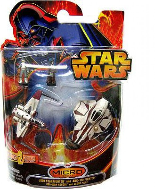 Star Wars Micro Vehicles Jedi Star fighter and Arc-170 Fighter Exclusive Mini Vehicle 2-Pack