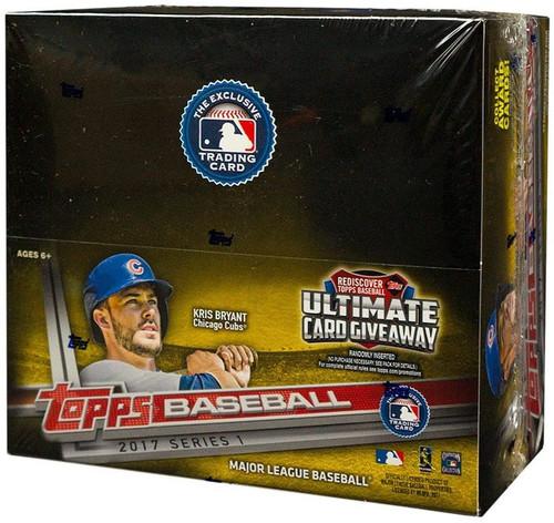 MLB Topps 2017 Series 1 Baseball Trading Card Box [24 Packs]