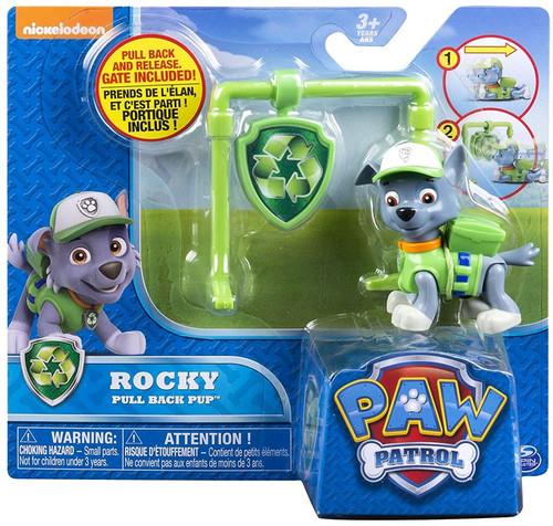 Paw Patrol Pull Back Pup Rocky Figure
