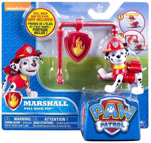 Paw Patrol Pull Back Pup Marshall Figure
