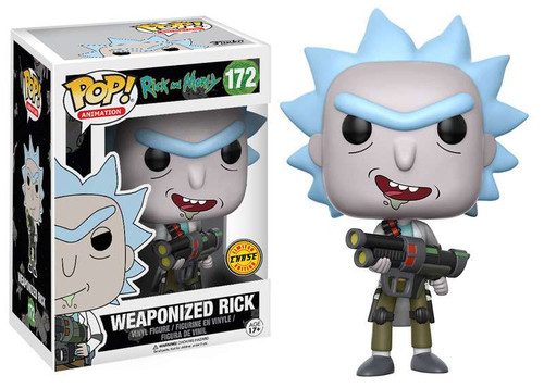 Funko Rick & Morty POP! Animation Weaponized Rick Vinyl Figure #172 [Open Mouth, Chase Version]