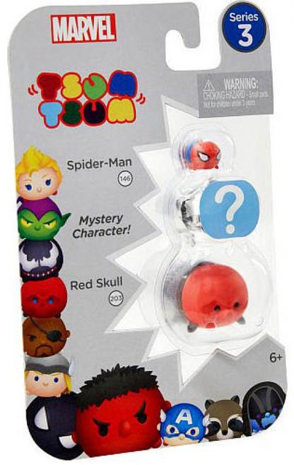 Marvel Tsum Tsum Series 3 Spider-Man & Red Skull 1-Inch Minifigure 3-Pack #146 & 203