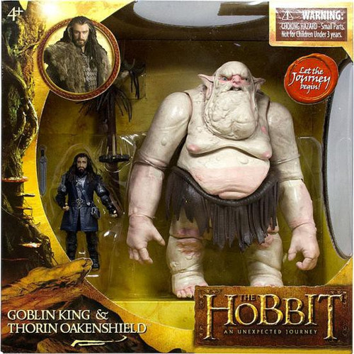 The Hobbit An Unexpected Journey Goblin King & Thorin Oakenshield Action Figure 2-Pack