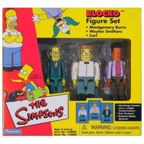 The Simpsons Blocko Mr. Burns, Smithers & Carl Figure Set