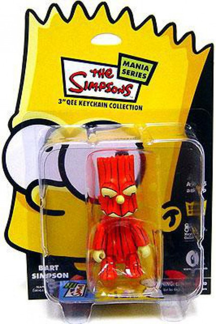 The Simpsons Mania Series Bart Simpson 3-Inch Qee Keychain [Pumpkin]