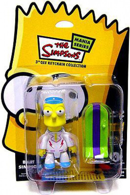 The Simpsons Mania Series Bart Simpson 3-Inch Qee Keychain [Daredevil]