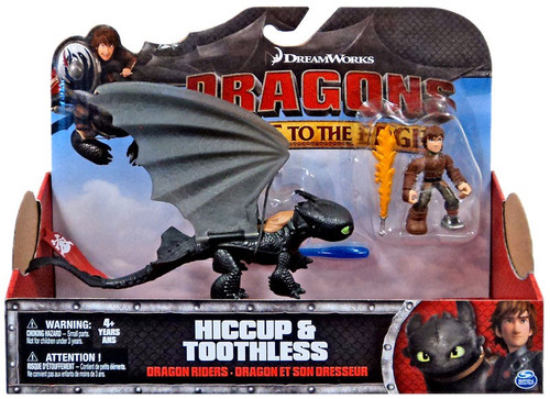 How to Train Your Dragon Race to the Edge Dragon Riders Toothless & Hiccup Action Figure 2-Pack [Red Tail]