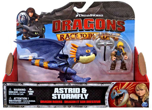 How to Train Your Dragon Race to the Edge Dragon Riders Astrid & Stormfly Action Figure 2-Pack [Purple]