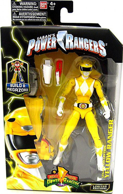 Power Rangers Mighty Morphin Legacy Build A Megazord Yellow Ranger Action Figure [MMPR]