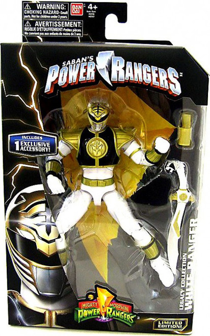 Power Rangers Mighty Morphin Legacy Build A Megazord White Ranger Action Figure [MMPR]