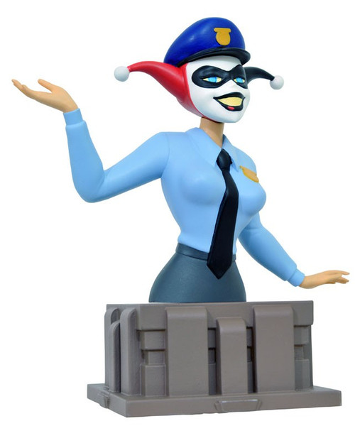 DC Batman The Animated Series Harley Quinn Cop 5-Inch Bust