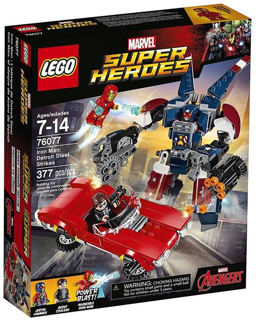 LEGO Marvel Super Heroes Avengers Iron Man: Detroit Steel Strikes Set #76077