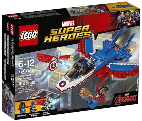 LEGO Marvel Super Heroes Avengers Captain America Jet Pursuit Set #76076