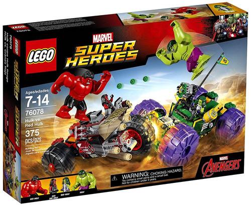 LEGO Marvel Super Heroes Avengers Hulk vs. Red Hulk Set #76078