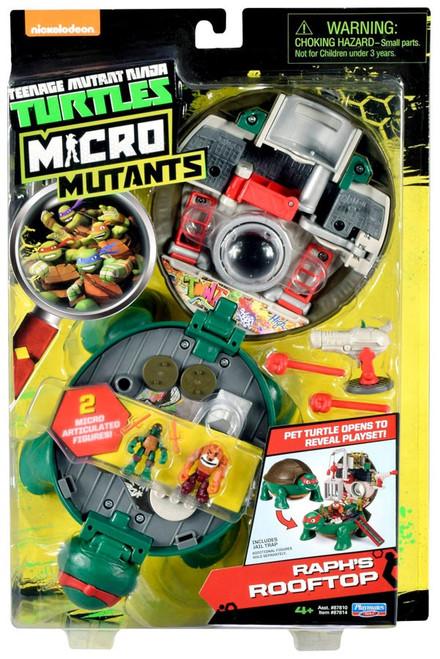 Teenage Mutant Ninja Turtles Nickelodeon Micro Mutants Raph's Rooftop Playset