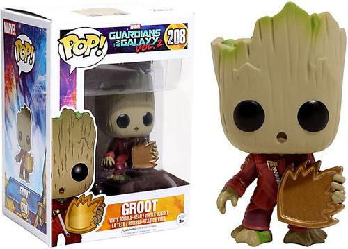 Funko Guardians of the Galaxy Vol. 2 POP! Marvel Groot Exclusive Vinyl Bobble Head #208