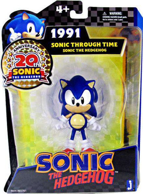 Sonic The Hedgehog 20th Anniversary Sonic Through Time Sonic Action Figure [1991, Damaged Package]