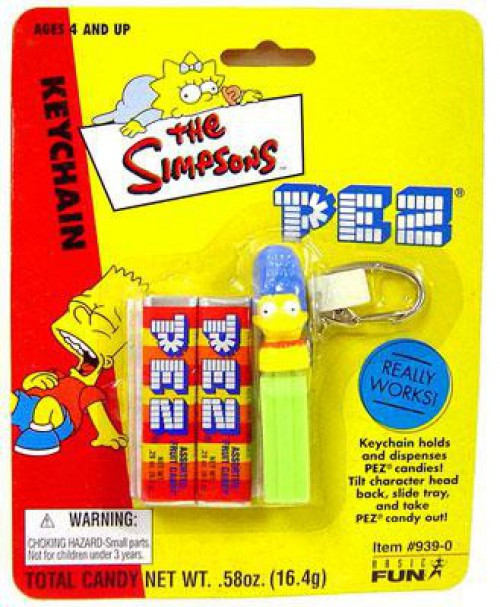 The Simpsons PEZ Marge Simpson Keychain