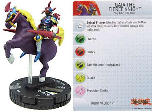 YuGiOh HeroClix Gaia the Fierce Knight #38