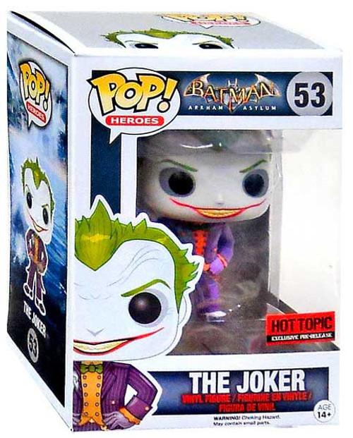 Funko Batman Arkham Asylum POP! Heroes The Joker Vinyl Figure #53