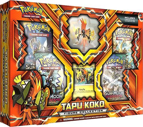 Pokemon Trading Card Game Tapu Koko Figure Collection [4 Booster Packs, Promo Card & Figure]