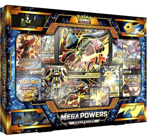 Pokemon Trading Card Game XY Mega Lucario-EX & Mega Manectric-EX Mega Powers Collection [8 Booster Packs, 4 Promo Cards & Oversize Card!]