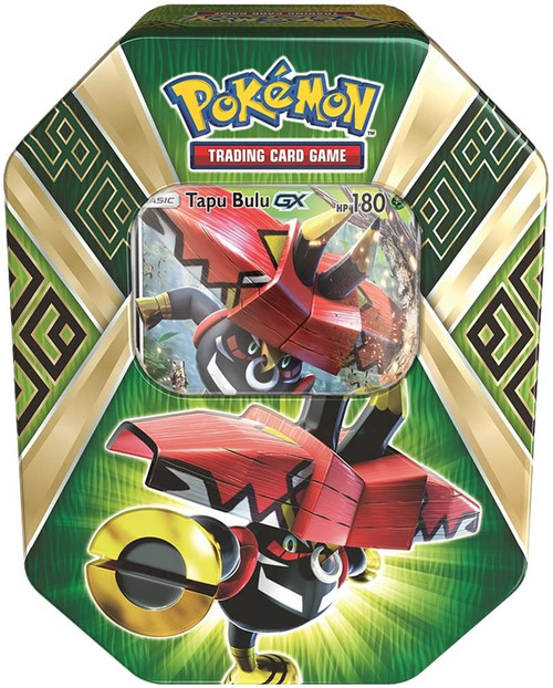 Pokemon Trading Card Game 2017 Island Guardians Tapu Bulu-GX Tin Set [4 Booster Packs & Promo Card!]