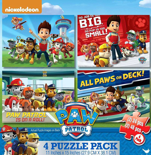 Paw Patrol Puzzle 4-Pack [Damaged Package]