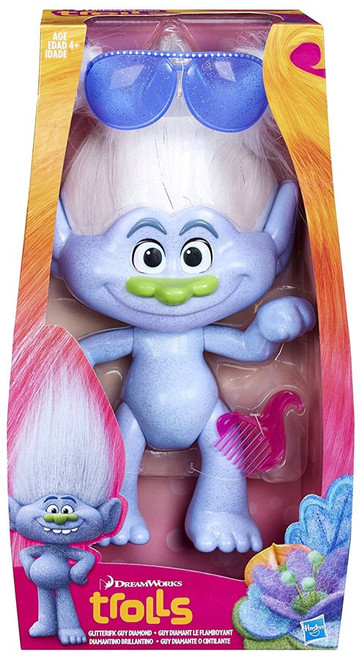 Trolls Glitterific Guy Diamond 12-Inch Figure Doll