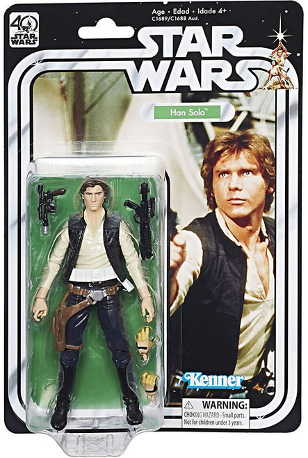Star Wars Black Series 40th Anniversary Wave 1 Han Solo Action Figure