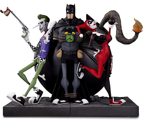 DC Batman The Joker & Harley Quinn 8.85-Inch Bookends