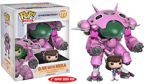 Funko Overwatch POP! Games D.Va with Meka 6-Inch Vinyl Figure #177 [Super-Sized]