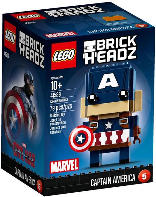 LEGO Marvel Captain America Civil War Brick Headz Captain America Set #41589