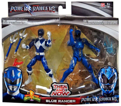 Power Rangers Movie Then and Now Blue Ranger Action Figure 2-Pack