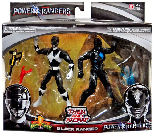 Power Rangers Movie Then and Now Black Ranger Action Figure 2-Pack