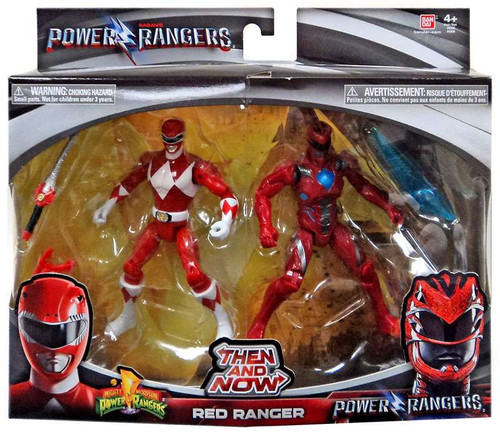Power Rangers Movie Then and Now Red Ranger Action Figure 2-Pack