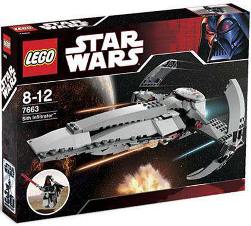 LEGO Star Wars Phantom Menace Sith Infiltrator Exclusive Set #7663 [Damaged Package]